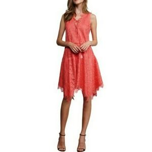 New Adelyn Ray Nordstrom's Coral Lace Tassel Dress